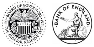 Seals of US Fed and B of E